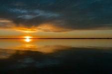 Okarito lagoon at sunset