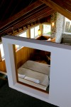 Main bed viewed from the mezzanine